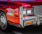 1976 Red Cadillac Eldorado Fine Art Print- Photography, Car Art, Antique Car, Home Decor, Nursery Decor, Wall Art, Vintage Car, Automobile