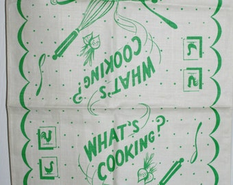 What's Cooking Vintage Kitchen Towel
