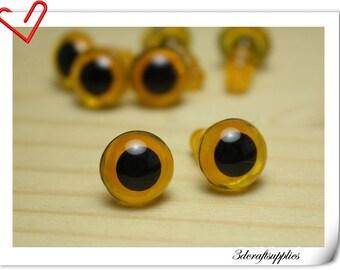 12 mm Champagne   Safety eye amigurumi eye doll eyes cat eye  16  pieces EA76