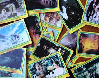"""Lot of 22 Vintage Star Wars """"Empire Strikes Back"""" Collectible Cards"""