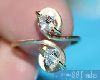 Diamond Toe Ring April Birthstone Jewelry