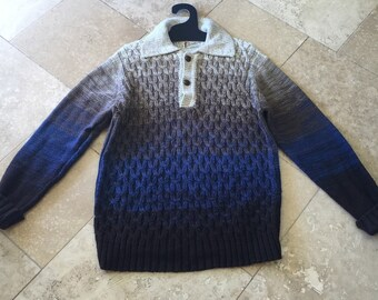Vintage Mens Squaw Valley Originals Ombre Sweater Large