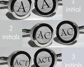 Mens Initial cufflinks/Groomsmen Gifts/Wedding Gift/Anniversary Gift/Custom Monogram Cufflinks/Personalized Cufflinks - Font Bernard