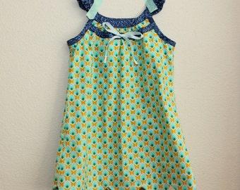 Scalloped Badminton Dress  - Girls Size 4