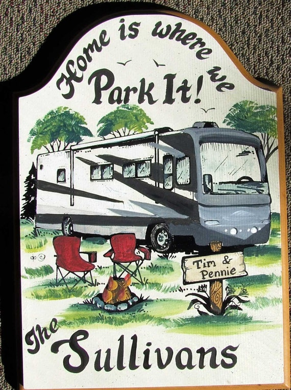 PERSONALIZED Class A Motorhome Camper Camping Campsite Welcome SIGN  Weatherproof Great GIFT