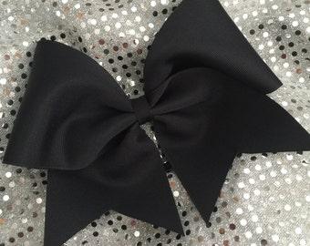 Custom Cheerleader Black Cheer Hair Bow