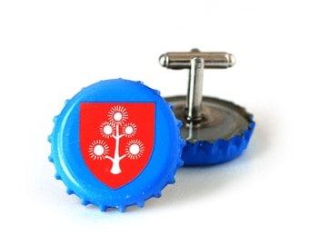 Sky Blue Pretty Things Beer Bottle Cap Cufflinks Cuff Links