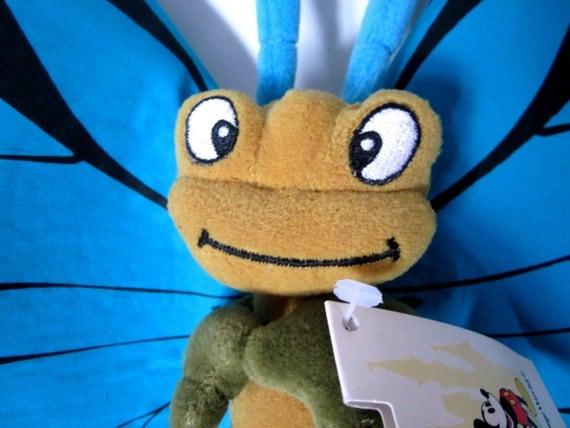 Bugs Life Blue Boy Butterfly Plush Toy Disney Vintage Stuffed