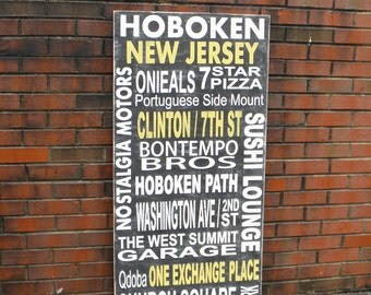 Personalized Subway Art Sign, Typography Sign, Custom subway art sign, family memory sign