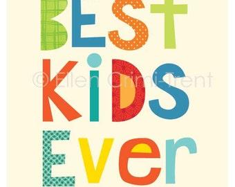 kids wall art- Best Kids Ever- nursery decor