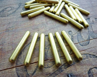 Long Brass Bead 32mm Vintage (6)