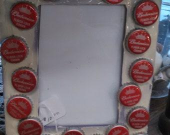 budweiser  beer cap frame