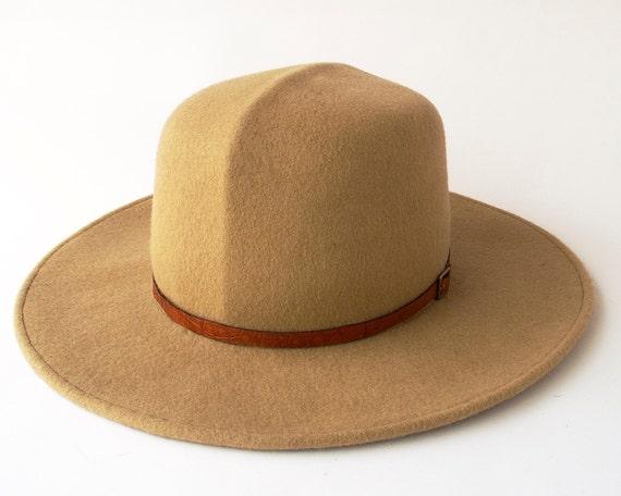 Travel Hat Wool Felt Hat Wide Brimmed Hat Optimo Hat Crushable Hat Camel Hat Safari Hat Panama Hat