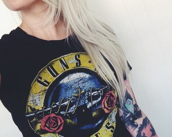 1989 Guns N' Roses Los Angeles Concert Tee size Small