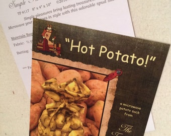 Hot Potato Pattern For Sewing Potato Bags Simple Easy