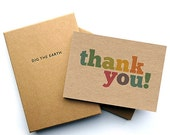 ON SALE Set Of 12 Colourful Thank You Note Cards - Postcards in a Box