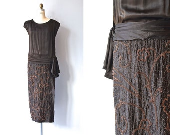 Favor of Fortune dress | 1920s beaded silk dress • vintage 20s dress