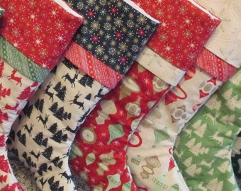Traditional Personalized Christmas Stockings Seven Different Choices