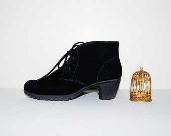 Vintage Bootie Black Hipster Ankle Wear Everywhere
