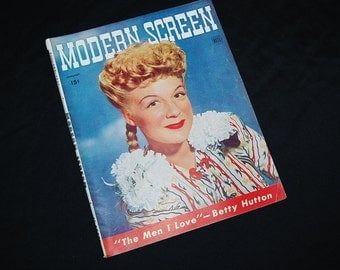 1944 January Modern Screen Rare Betty Hutton Cover