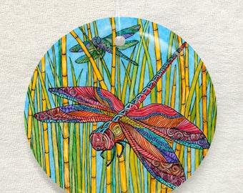 2 Dragonflies Ornament and Suncatcher