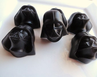 Darth Vader Soap Set - Star Wars inspired soap for Men, Black for Men or Cherry Lifesaver Scent, Novelty Soap, Shaped, kids soap, soap favor
