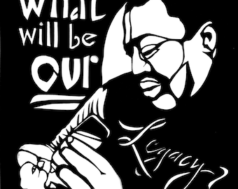Eric Garner Commemorative Card - What Will Be Our Legacy? - WE CAN'T BREATHE series -  Pay It Forward