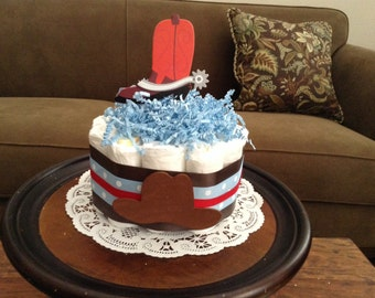 Cowboy Western Baby Shower Diapercake Centerpieces Other Colors Size  Available Cowgirl Too