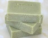 Cucumber Avocado Soap Bar - Unscented - All Natural Soap Bar - Cold Process Soap