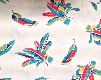 5 Yards 35 Wide 50s feather print cotton dressmaking fabric