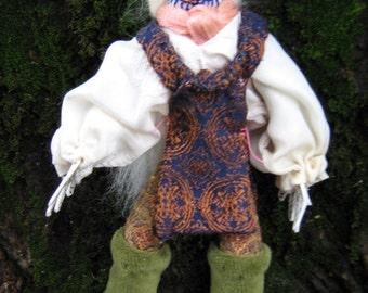Day of the Dead, goth, noir, cloth doll, OOAK miniature doll, Halloween, geekery