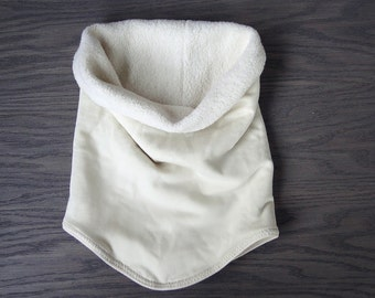 Warm cowl, neckwarmer organic cotton sherpa neck warmer lots of colors