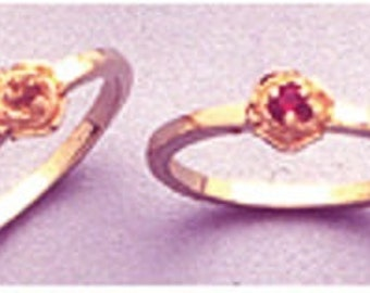 14kt. Yellow OR White Gold ~ 2mm Round Petite Birthstone Ring setting ~ Custom sized from sz. 4 to size 11  ~ to be ordered ~ #8750200 ~ FDK