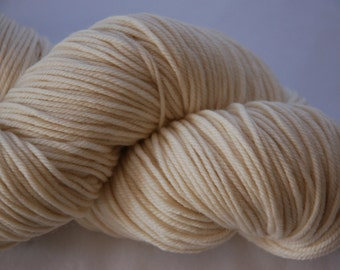 Un-dyed:  Studio June Yarn Andrea Mae DK, Superwash Merino, DK/Light Worsted Weight