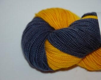 Studio June Yarn - Sydney Sock with Nylon - Color:  Go Team! Blue/Gold