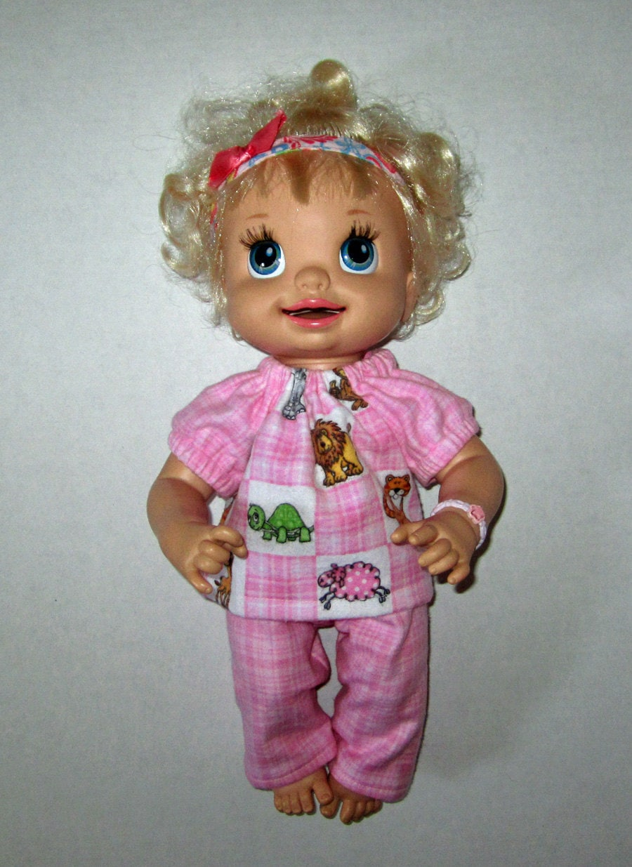 Real Baby Alive Doll Clothes Pink Zoo AnImals by Dakocreations