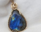Labradorite Pendant - You have to see this color!