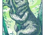 Happy Sloth - 13 x 19 - Silkscreen Print
