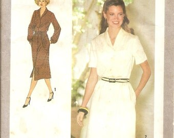 1970s Vintage Sewing Pattern -  Shirt Dress Pattern - Secretary Dress - Womenswear - 70s Fashion Pattern - DIY - Simplicity 9080