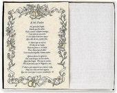 Personalized El Padre de la Novia Wedding Handkerchief in Spanish - BH102S