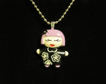 Purple Geisha Girl necklace