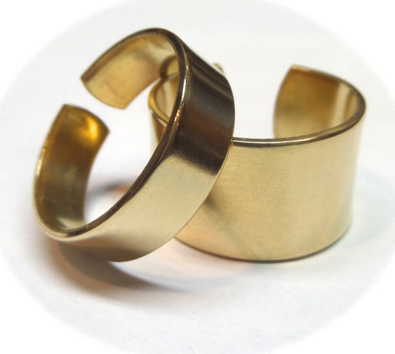12 Jeweler's BRASS Ring Blanks 18 Gauge Polished  Ring Blanks - 12 FLAT Ring Blanks Jewelers Brass Red Brass NuGold