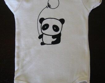 Panda Baby Onesie Organic Cotton Natural