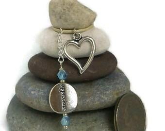 Appreciate Heart Rock Cairn, Gratitude, Grateful, Unique Teacher Gift, Zen Garden, Balancing Rocks, Spiritual, Small Gift, Stacked Stones