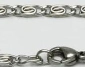 Item #130 - Sold By The Inch - 3.5mm Scroll Pure Stainless Steel Necklace Or Bracelet Chain Plus FREE In-Country Shipping