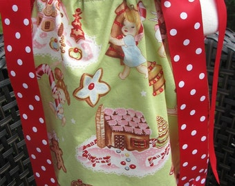 christmas half off sale pillowcase dress in size 12 months only, christmas pillowcase dress, party dress, holiday dress