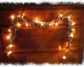 Primitive Homespun Lighted Rag Garland Swag 7.5 Feet Long--Now with more color options