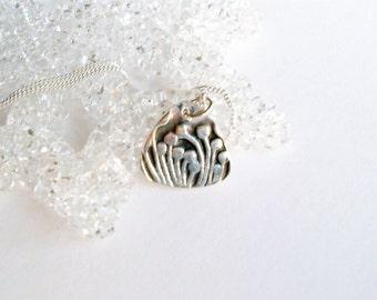 """Petite Fine Silver """"Fiddle Fern"""" Necklace"""
