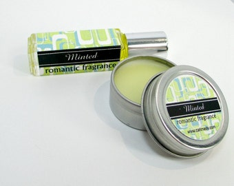 SALE Minted Perfume, Romantic, Light herbal fragrance, Concentrated, Portable fragrance, great stocking stuffer