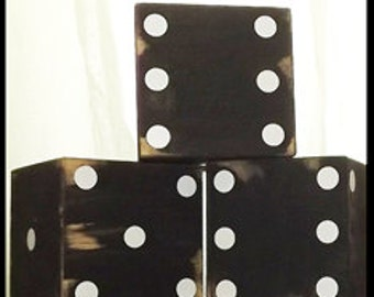 Oversized Black Wood Dice